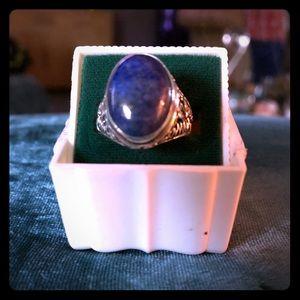 Blue Lapis Lazuli Ring